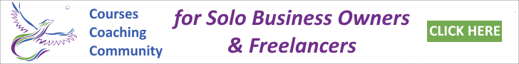 Click here for a free trial for coaching, courses and community for solo business owners and freelancers.